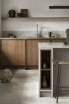 Modern Kitchen Interior Remodeling Is the All-White Kitchen Trend Finally Over? Nordic Kitchen, All White Kitchen, White Kitchens, Luxury Kitchens, Scandinavian Kitchen, Dream Kitchens, Warm Kitchen, Natural Kitchen, Remodeled Kitchens
