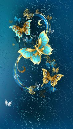Buy Eight of Luxury Butterflies by on GraphicRiver. Eight of the luxury, jewelery butterflies on blue textural background. AI and JPEG files are included in archive. Butterfly Wallpaper, Butterfly Art, Cellphone Wallpaper, Iphone Wallpaper, Butterfly Pictures, Pretty Wallpapers, Beautiful Butterflies, Animes Wallpapers, Fractal Art