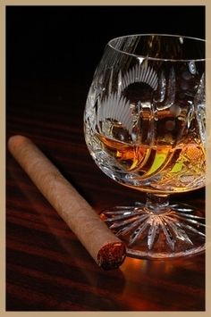 Remy Martin cognac - a brandy that sweetens the tongue, and smooths the flavor of smoke. Good Cigars, Cigars And Whiskey, Best Cognac, Cigar Bar, Cigar Club, Pipes And Cigars, Its A Mans World, Cigar Smoking, Men Smoking