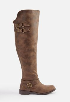 You can never go wrong with a simple and classic tall boot. This minimal design features an inner zip closure and buckle accents at the ankle and shaft. ...