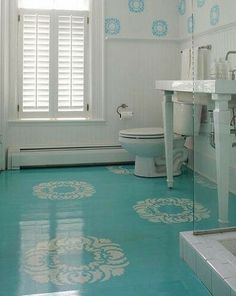 Painted Concrete Floors With Stencil Design Coordinates Wall Stencils Lovely Who Knew