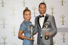 Angelique Boyer and Sebastian Rulli attend the press room during the Premios Tv y Novelas 2017 at Televisa San Angel on March 26, 2017 in Mexico City, Mexico.