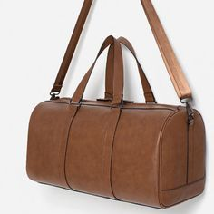 TUMBLED EFFECT TRAVEL DUFFEL BAG-Travel-BAGS-MAN | ZARA Greece