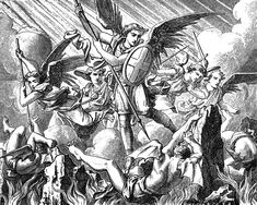 The book of Revelation provides a lot of insight into how God operates in these last days.  It gives us glimpses into how the physical and spiritual worlds interact as well as their affects on each other.  As in other books of the Bible, Revelation shows how important angels are to carrying out the Lord's will. http://sunandshield.wordpress.com/2007/10/18/heavenly-saints-of-the-seven-last-plagues/ Angeles Santos, Angeles Custodios, Saint Michel, Saint John, San Miguel, Revelation Tattoo, Fighting Demons, Musician Gifts, Horsemen Of The Apocalypse