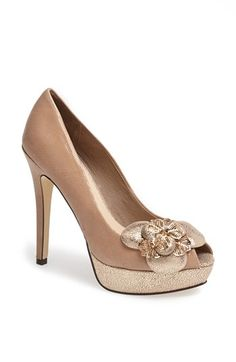 Menbur Flower Platform Pump | Nordstrom if only these were either a rose pink or white, maybe even an off white they would be perfect