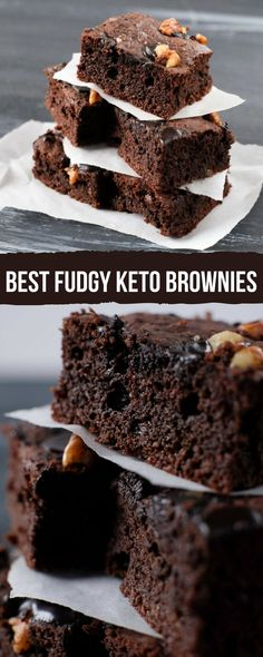 You may not want to believe me, but these little chocolate squares might very likely be among the best fudgy keto brownies you've ever tried!