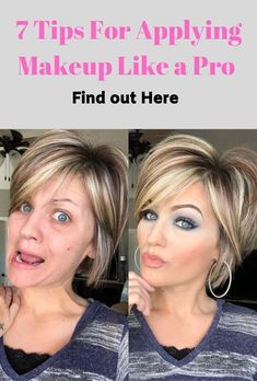 7 Tipps zum Auftragen von Make-up Like a Pro - Natural Makeup Blue Makeup Tips For Older Women, Beauty Hacks For Teens, Makeup For 50 Year Old, Makeup Tips To Look Younger, Foundation Tips, No Foundation Makeup, Drugstore Foundation, Flawless Foundation, How To Apply Foundation