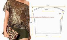 Moldes Moda por Medida: TÚNICA DE LANTEJOULAS