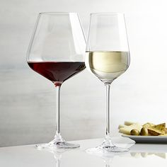 Hip Wine Glasses- for red... most of our sets of wine glasses have suffered some losses so we no longer a 4 of any kind of wine glass except for flutes.