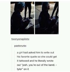 Josh you're out of the band