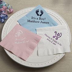 Baby Shower Personalized Napkins - Beverage Size