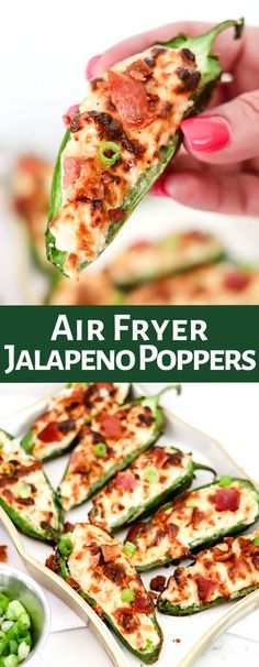 Air Fryer Jalapeno Poppers are an appetizer staple, and this version will be your go-to recipe. Using the air fryer, they are done in under 10 minutes and amazingly delicious! Only 88 calories per serving!