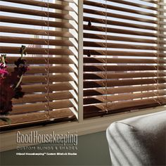 Wood blinds are elegant in design, rich in color, and accentuate the home with a natural feel.