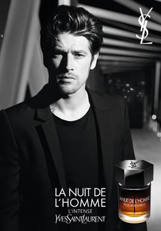 Magazine advertisement for Yves Saint Laurent's La Nuit De L'Homme - Vinnie… Best Fragrance For Men, Best Fragrances, Celebrity Perfume, Celebrity Beauty, Yves Saint Laurent, Fendi Perfume, Ysl, Perfume Adverts, Billy Kidd
