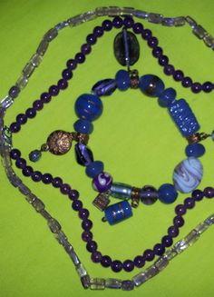 A vendre sur #vintedfrance ! http://www.vinted.fr/accessoires/colliers/16470798-lot-de-3-bijoux-en-amethyste