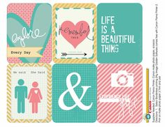 Free Printable Journaling Cards {Set 2} from Heidi Swapp