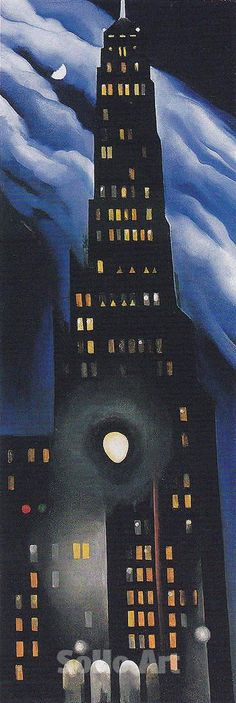 "Georgia O'Keeffe (1887-1986) ~  ""Ritz Tower Night"", 1928"