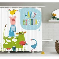 Shower Curtains and Shower Curtain Hooks Gray Bathroom Decor, Grey Bathrooms, Bathroom Sets, Country Bathrooms, Very Small Bathroom, Bathroom Design Small, Bathroom Humor, Birthday Decorations, Cute Cartoon