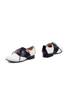 Classic Contrast Saddle Shoes
