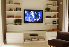 Living Room Inspiration, House Rooms, Home Theater, Home Furnishings, Sweet Home, House Styles, Console Tv, Furniture, Den