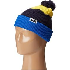 ba3f1f4643c15 Neff Snappy Beanie (Blue Navy Yellow) Beanies (660 RUB) ❤ liked on Polyvore  featuring accessories