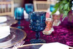 La Tavola Fine Linen Rental: Velvet Wine | Photography: Melody Melody Melikian photography, Event Planning & Design: Fancy That Events, Floral Design: Tic Tock