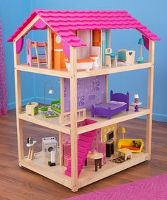 Another great find on #zulily! So Chic Dollhouse Set #zulilyfinds