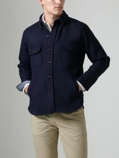 Save Khaki - CPO Jacket    Another great spring layering piece. Very simple detailing