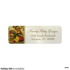 Holiday Gift Return Address Label
