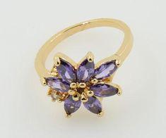 Purple Flower Fashion Ring