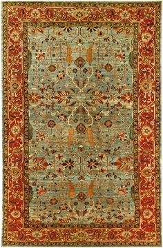 A new handmade Afghan Mahal pile carpet with an all-over design made from handspun wool and natural dyes.