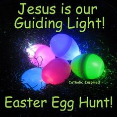 Christ-centered Easter activity for kids. Jesus is our Guiding Light ~ Easter Egg Hunt! | Catholic Inspired ~ Arts, Crafts, and Activities!: