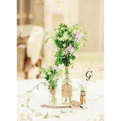 可憐なお花にきゅん♡ナチュラルウェディングがテーマのテーブル装花デザインまとめ* | marry[マリー]