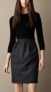 Check Skirt Shift Dress