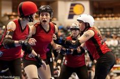 """Roller Derby Lesson #26: """"I Need An Adult!"""" by Bunnie Liw-Browski; Bullet Boutfits is funny blog about communicating on the track"""