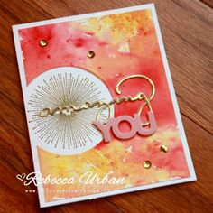 Kylie's International Blog Highlight February 2018 - 101 Projects with Rebecca. Stampin Up Celebrate You. Brusho crystals. Stampin Up cards. Stampin Up Brusho. Stampin Up Amazing you. Stampin up ideas. Cardmaking. Brusho tutorials.