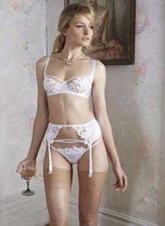 9ed7cf2c24 Extra Off Coupon So Cheap Fleur Of England White Jasmine Suspender Belt  Size Medium