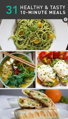 31 Healthy Meals You Can Make in 10 Minutes or Less | Thirty-one 10-Minute Meals for Time Poor Cooks #fastrecipes #easyrecipes #healthyrecipes