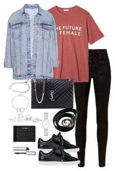 """""""Untitled #3435"""" by theeuropeancloset on Polyvore featuring rag & bone, StyleNanda, Pull&Bear, Yves Saint Laurent, Michael Kors, Chupi, GUESS, Gucci, Forever New and Puma"""