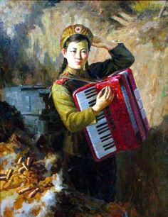 North Korean girl scout