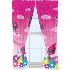 DreamWorks Trolls 'Jumping Rainbows' Microfiber Window Panels - Walmart.com