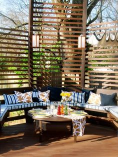 Outdoor Room & Outdoor Kitchen Decorating & Design Ideas- Pictures of Outdoor Rooms on Decks, Patios and Porches : Home & Garden Television Outdoor Rooms, Outdoor Gardens, Outdoor Living, Outdoor Furniture Sets, Outdoor Decor, Outdoor Lounge, Outdoor Parties, Outdoor Kitchens, Decks