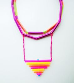 Colorful necklace summmer jewelry multistrand necklace by Jiakuma