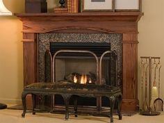 Image of: traditional wood fireplace mantels