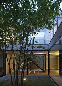 still - japanese courtyard house - chiba - apollo - pati + int stair - photo masao nishikawa