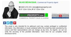 Commercial Realtor, Professional Email Signature, Email Signatures, Property Management