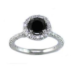 Black diamond engagement rings | Ringolog