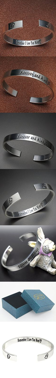 O.RIYA Mother's Day Gift / Gifts For Mom From Daughter - Mother's Bracelet , Birthday Gift , Custom Bracelet , Remember I Love You Mom, Cuff Bracelet , Forever and Always