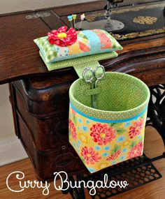 Thread Catcher Handmade Sew In Style Thread by CurryBungalow