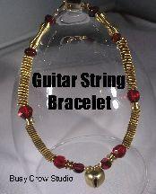 Guitar String Bracelet at Sova-Enterprises.com